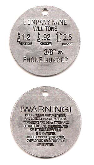 round wire rope tag