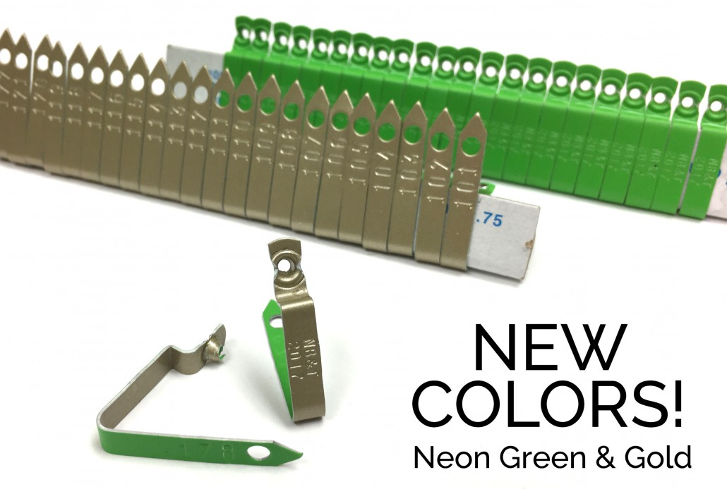 neon green gold 892 wing band