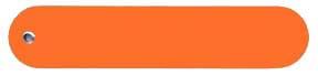 orange plastic plant label
