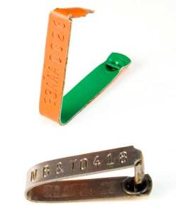 round post ear tag for cattle