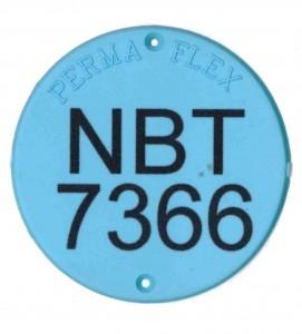 permaflex large round tag style 7366