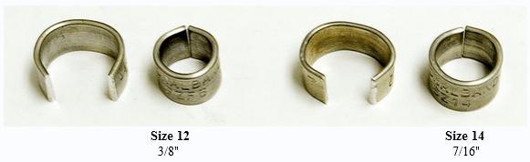 aluminum C-shape bird bands