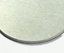 plain aluminum tag