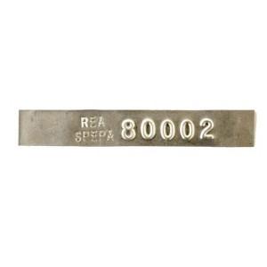 thin aluminum tag