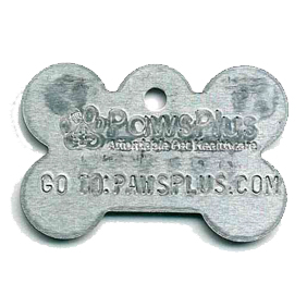 aluminum dog bone tag
