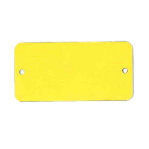 yellow blank tag