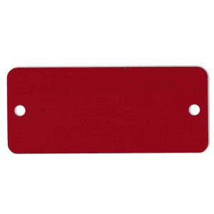 red plate tag
