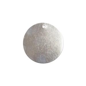blank aluminum tag