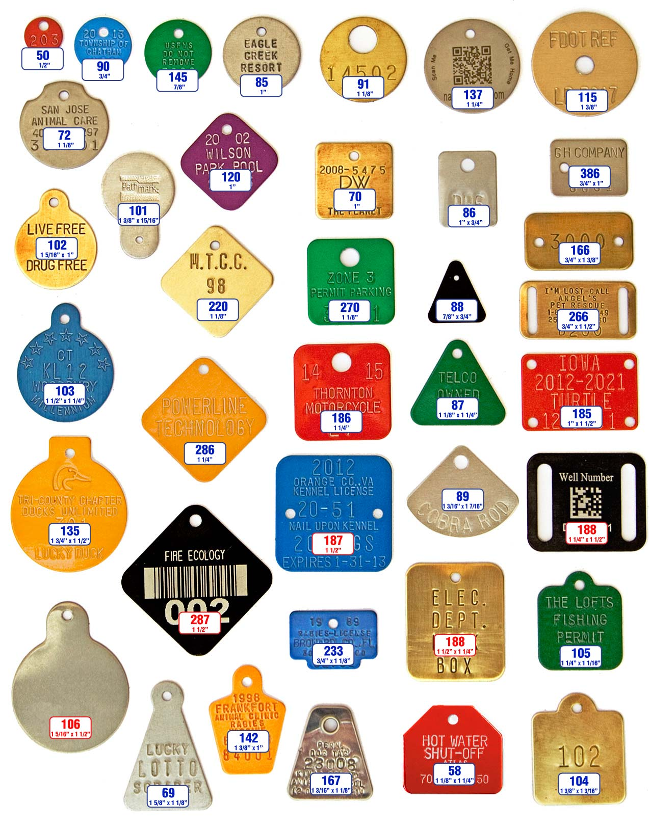 dog and cat plate tags