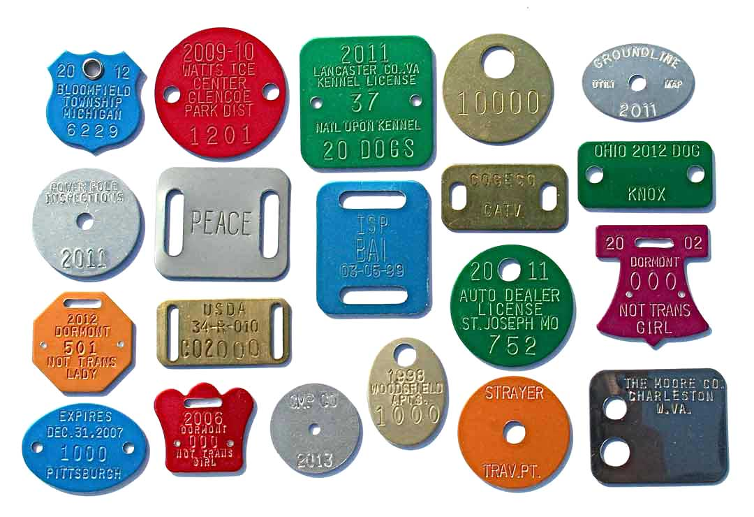 hole and slot samples on tags
