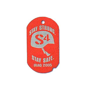 red military style tag