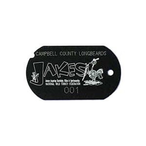 uv stable black military tag