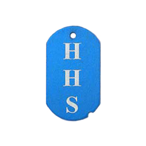 blue school spirit tag