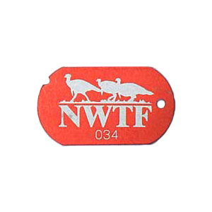 red nwtf military tag
