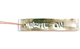 write-on tag aluminum