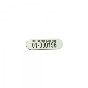 laser engraved plastic tag