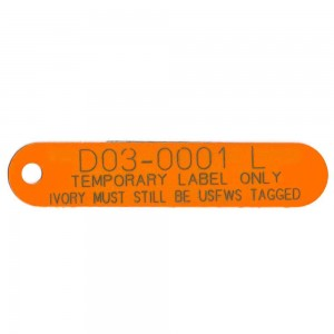 plastic label