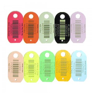 assorted plastic tags