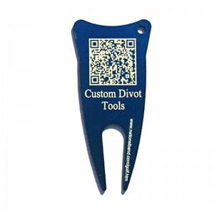qr code on golf divot tool