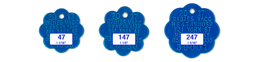 blue rosette rabies tags