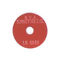 red survey marker