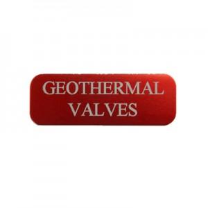 geothermal valve tag
