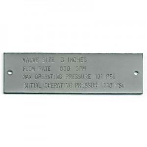 stainless valve tag