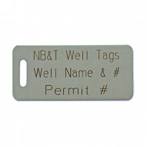 stainless steel well tag