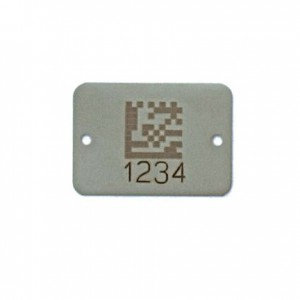 stainless steel barcoded well tag