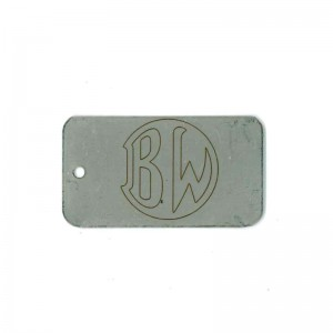 logo on stainless tag