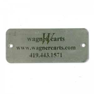 logo on stainless steel tag