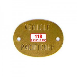 Oblong Oval Tag Style 118