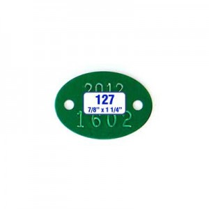 Oblong Oval Tag Style 127