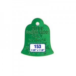 Green Bell Rabies Tag Style 153