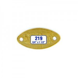 Oval Oblong Tag Style 219