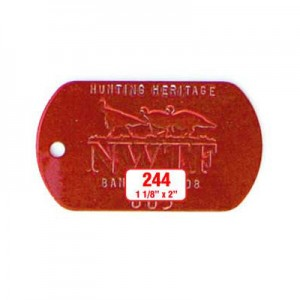 Military Dog Tag Style 244