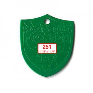 shield tag shape