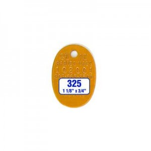 Orange Oval Tag Style 325