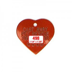 Red Heart Rabies Tag Style 498