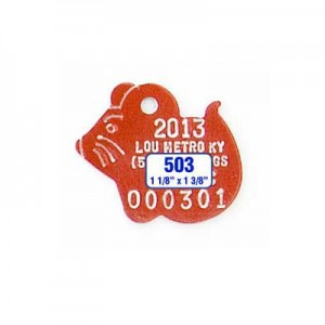 Mouse Shaped Tag Style 503