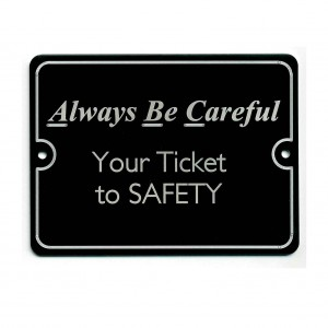 safety plaque