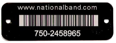 barcoded rectangle tag