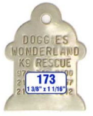fire plug dog tag