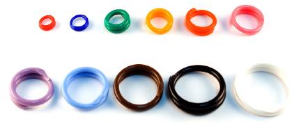 plastic spiral bands