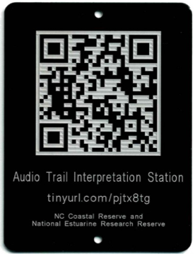 educational walking trail tag with QR Code