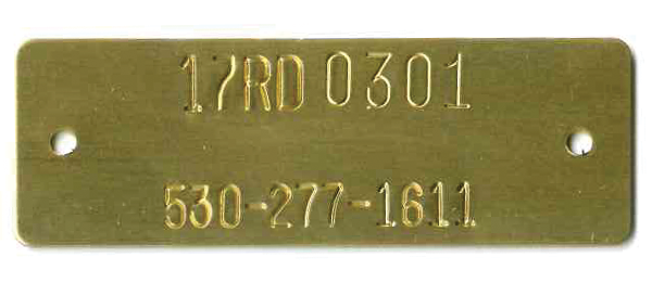 """1"""" x 3"""" rectangle tag. Most popular size."""