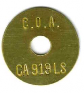 brass survey tag