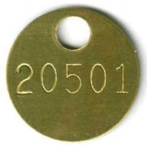 brass tag with extra large hole