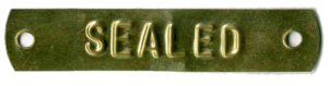 brass sealed tag