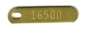 numbered brass tag